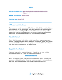 Service Manual HewlettPackard 8340A