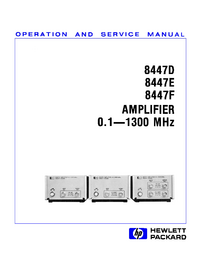 Serwis i User Manual HewlettPackard 8447D