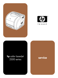 Service Manual HewlettPackard Color Laserjet 2500