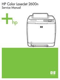 Manual de servicio HewlettPackard Color LaserJet 2600N