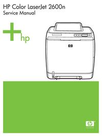 Manuale di servizio HewlettPackard Color LaserJet 2600N