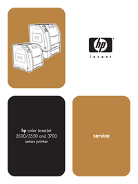 Manual de serviço HewlettPackard Color LaserJet 3500