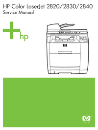 Service Manual HewlettPackard Color LaserJet 2840 all-in-one