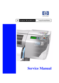 Service Manual HewlettPackard DesignJet 500PS