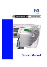 Serviceanleitung HewlettPackard DesignJet 800