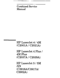 Manual de servicio HewlettPackard LaserJet 4M Plus
