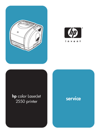 Service Manual HewlettPackard color LaserJet 2550 series