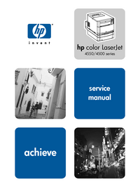 Service Manual HewlettPackard Color LaserJet 4550HDN