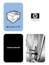 Instrukcja serwisowa HewlettPackard LaserJet 4100N (C8050A)