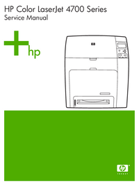 Manual de serviço HewlettPackard Color LaserJet 4700 series