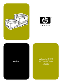 Service Manual HewlettPackard LaserJet 5100tn