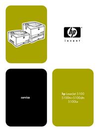 Service Manual HewlettPackard LaserJet 5100dtn