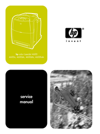 Service Manual HewlettPackard color LaserJet 4600n