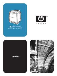 Manual de servicio HewlettPackard color LaserJet 4650
