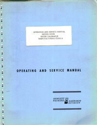 Service Manual HewlettPackard 6920B