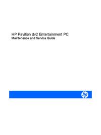 Service Manual HewlettPackard Pavilion dv2