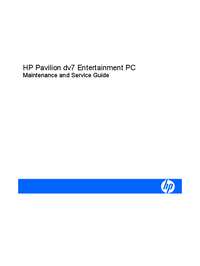Service Manual HewlettPackard Pavilion dv7