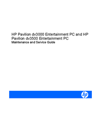 Servicehandboek HewlettPackard Pavilion dv3500