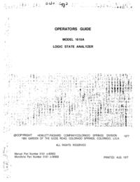 Manual do Usuário HewlettPackard 1610A
