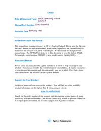 Bedienungsanleitung HewlettPackard 3563A