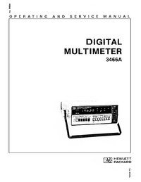 Serwis i User Manual HewlettPackard 3466A