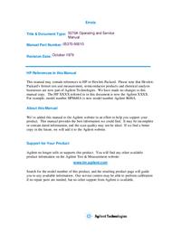 Serwis i User Manual HewlettPackard 5370A
