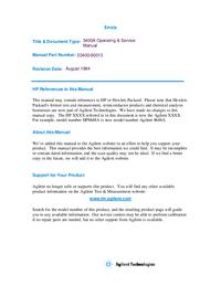 Service- und Bedienungsanleitung HewlettPackard 3400A