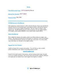 Gebruikershandleiding HewlettPackard 35677B