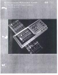 Manual do Usuário HewlettPackard 1631A