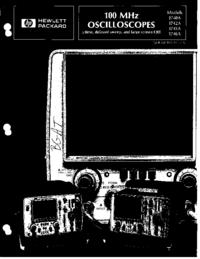 Catálogo HewlettPackard 1745A