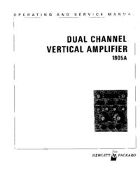 Serviço e Manual do Usuário HewlettPackard 1805A