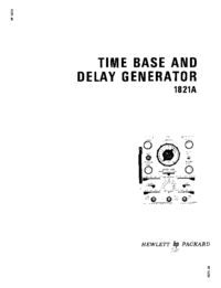 Serviço e Manual do Usuário HewlettPackard 1821A