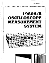 User Manual HewlettPackard 1980B