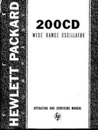 Service-en gebruikershandleiding HewlettPackard 200CD