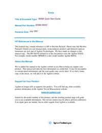 Руководство пользователя HewlettPackard 3589A