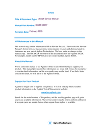 Manual de servicio HewlettPackard 3588A