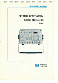 User Manual HewlettPackard 3780A
