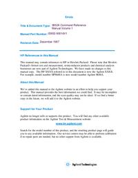 Bedienungsanleitung HewlettPackard 3852A