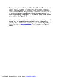 Обслуживание и Руководство пользователя HewlettPackard 5004A