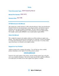 Manuale d'uso HewlettPackard 5061B