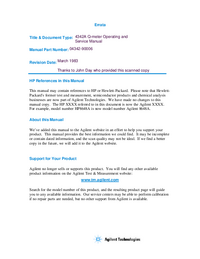 Service-en gebruikershandleiding HewlettPackard 4342A