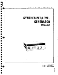 User Manual HewlettPackard 3336A