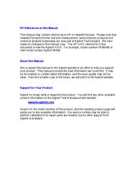 Manual de servicio HewlettPackard 3478A