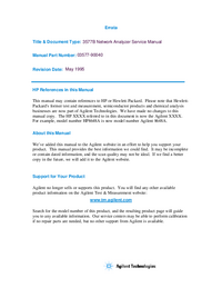 Service Manual HewlettPackard 3577B