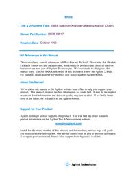 Manual do Usuário HewlettPackard 3585B