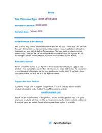 Manual de serviço HewlettPackard 3589B
