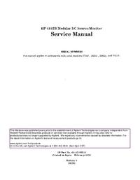 Instrukcja serwisowa HewlettPackard 4142B