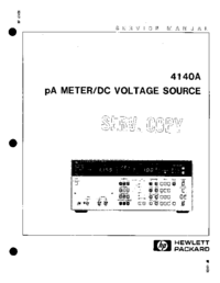 Service Manual HewlettPackard 4140A