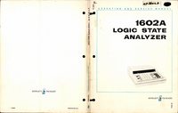 Service and User Manual HewlettPackard 1602A