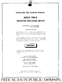 Service and User Manual HewlettPackard 312D